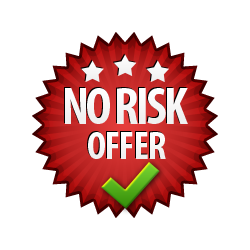No Risk Offer - Burst Badge Red