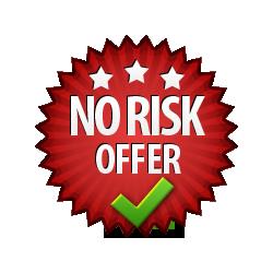 No Risk Offer - Burst Badge Red