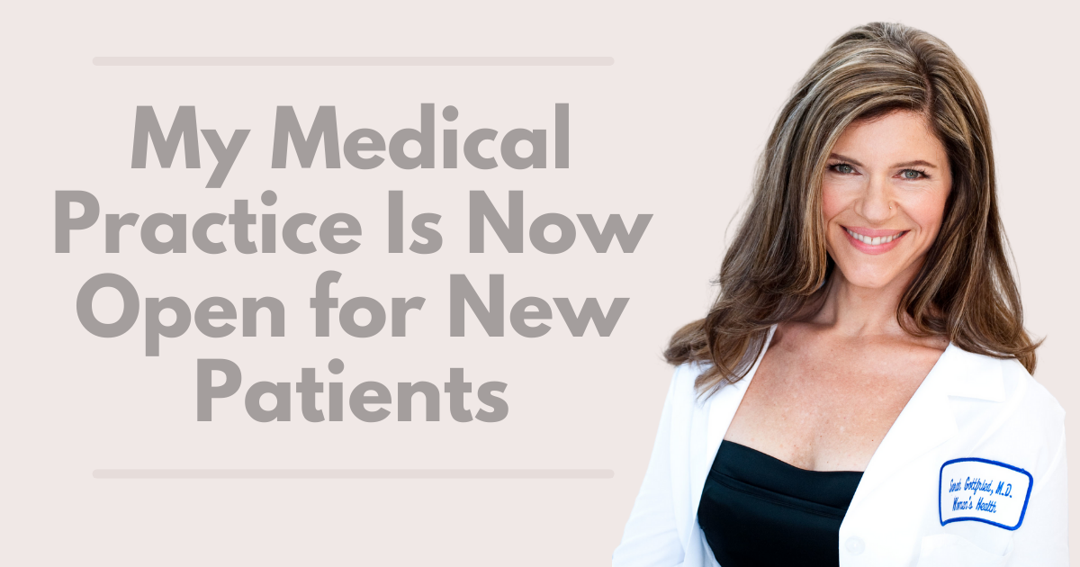 Sara Gottfried Women's Health Article |New Patients| Sara Gottfried MD's Medical Practice Now Open for New Patients